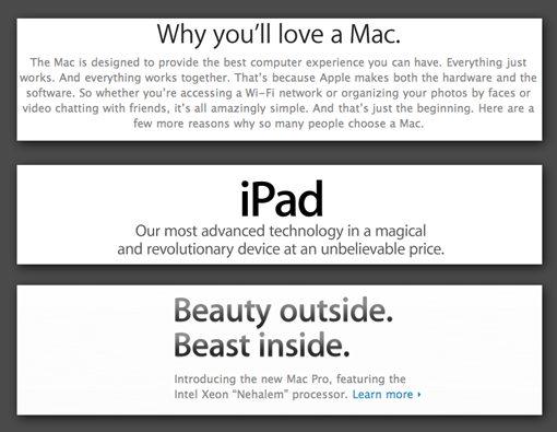 confident headlines examples apple